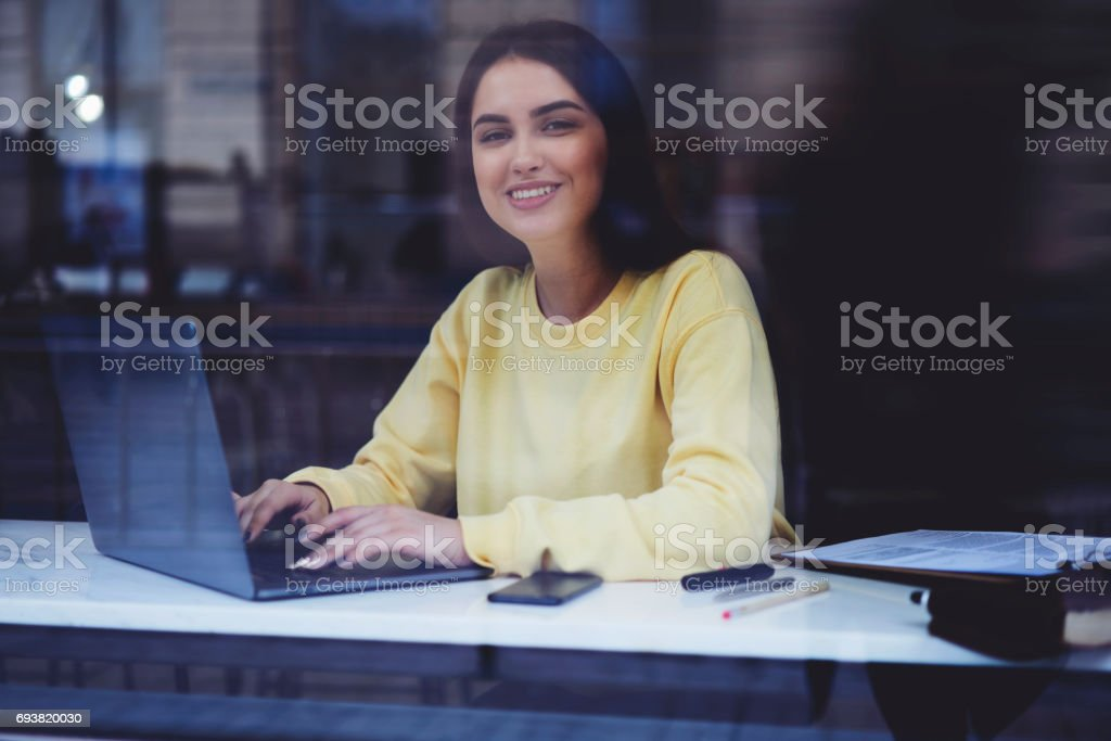 Attractive female administrative manager stock photo