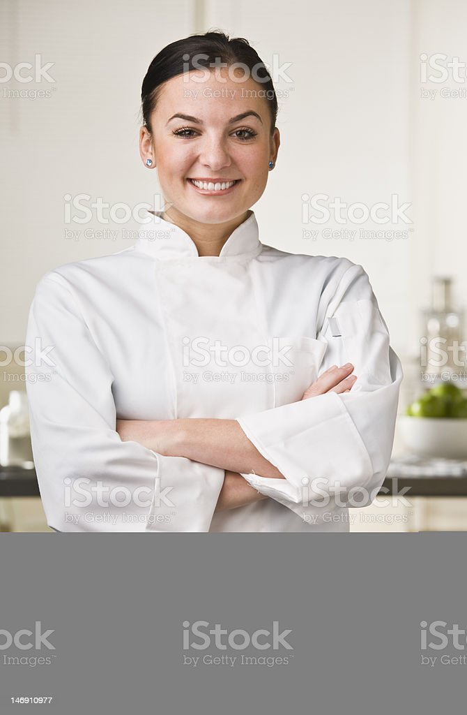 Attractive Female Chef royalty-free stock photo