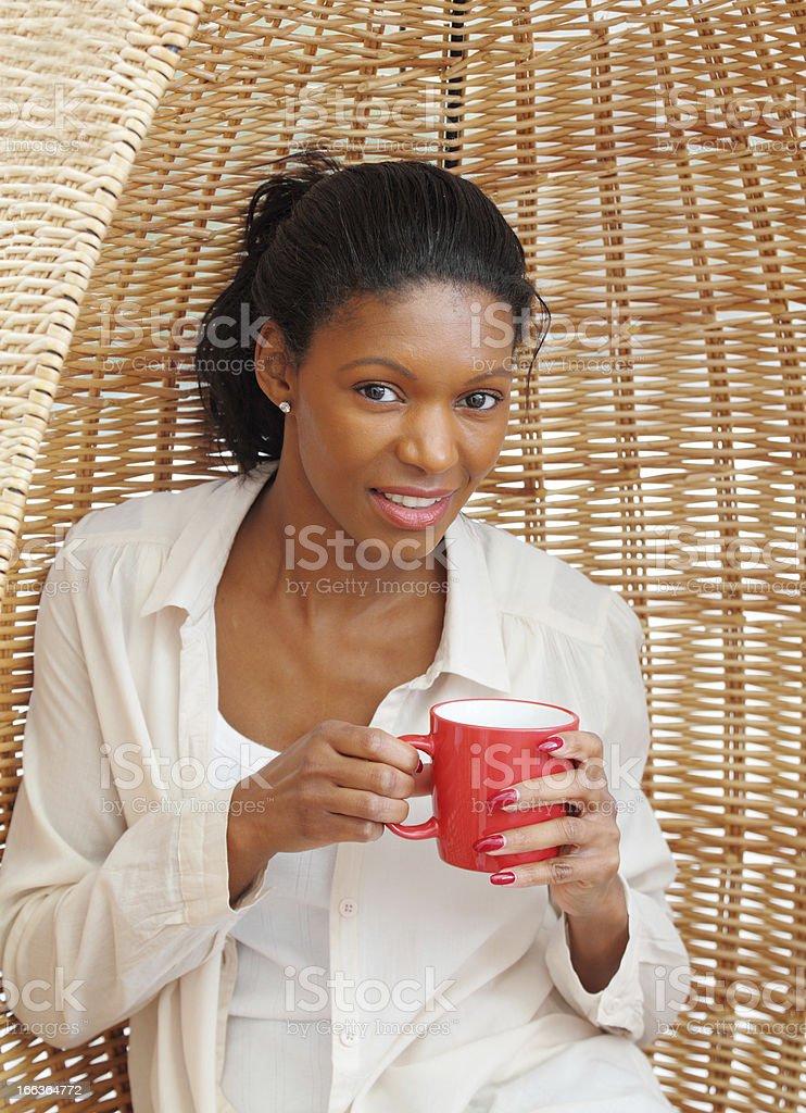 attractive female enjoying her coffee break royalty-free stock photo