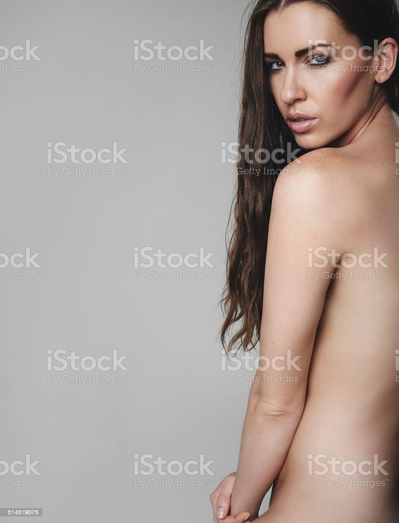 Attractive female model naked stock photo