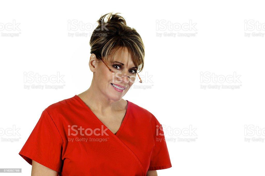 Attractive Female Nurse stock photo