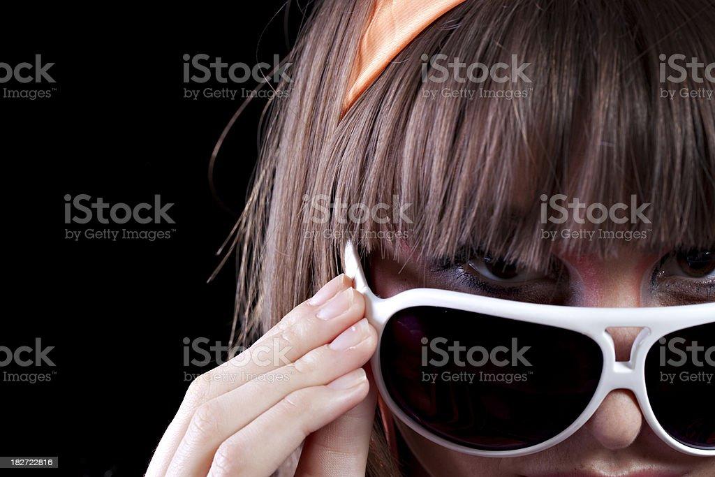 Attractive Female Peeking royalty-free stock photo