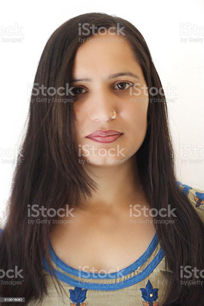 Attractive female portrait stock photo