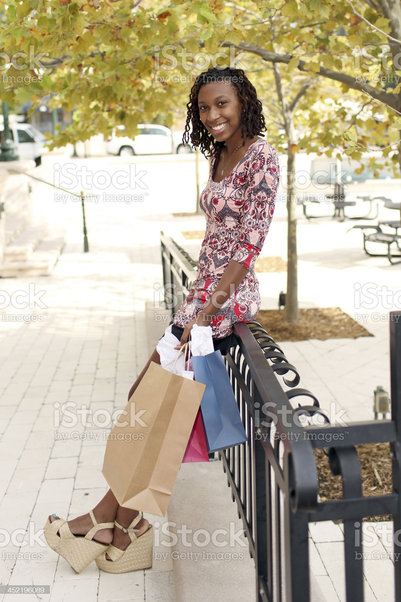 Attractive Female Shopper royalty-free stock photo