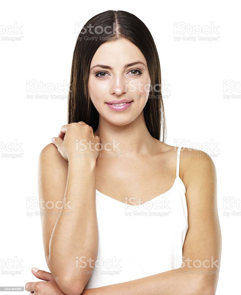 Attractive female smiling stock photo
