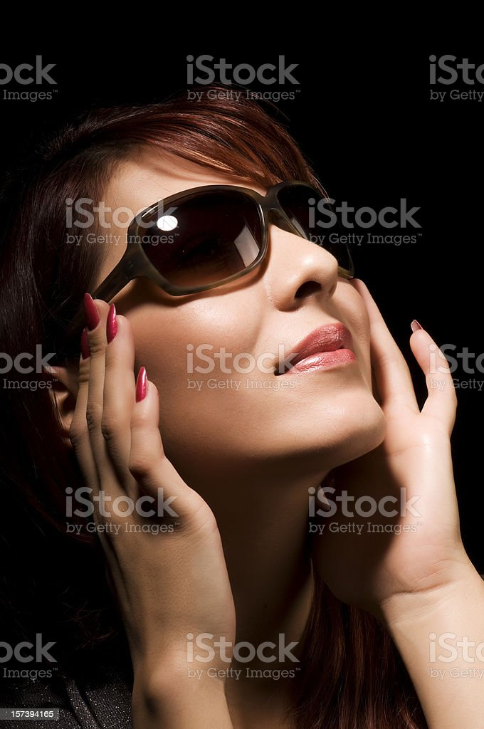 attractive female with sunglasses royalty-free stock photo