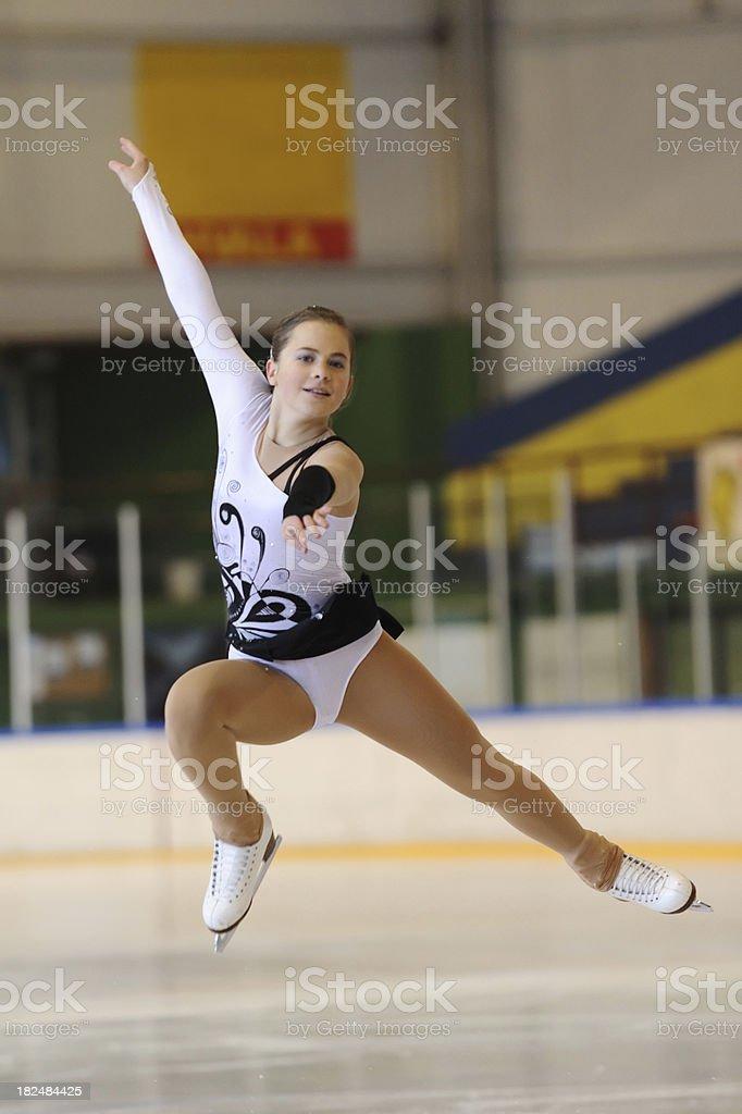 Attractive figure skater stock photo