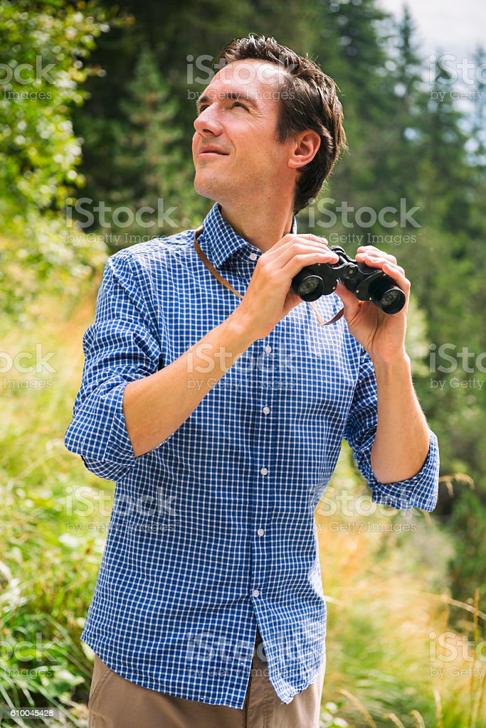 Attractive Forester at Work stock photo