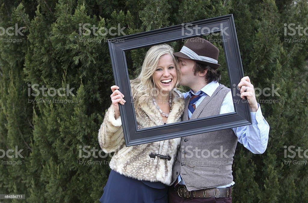 Attractive Frame Portraits stock photo