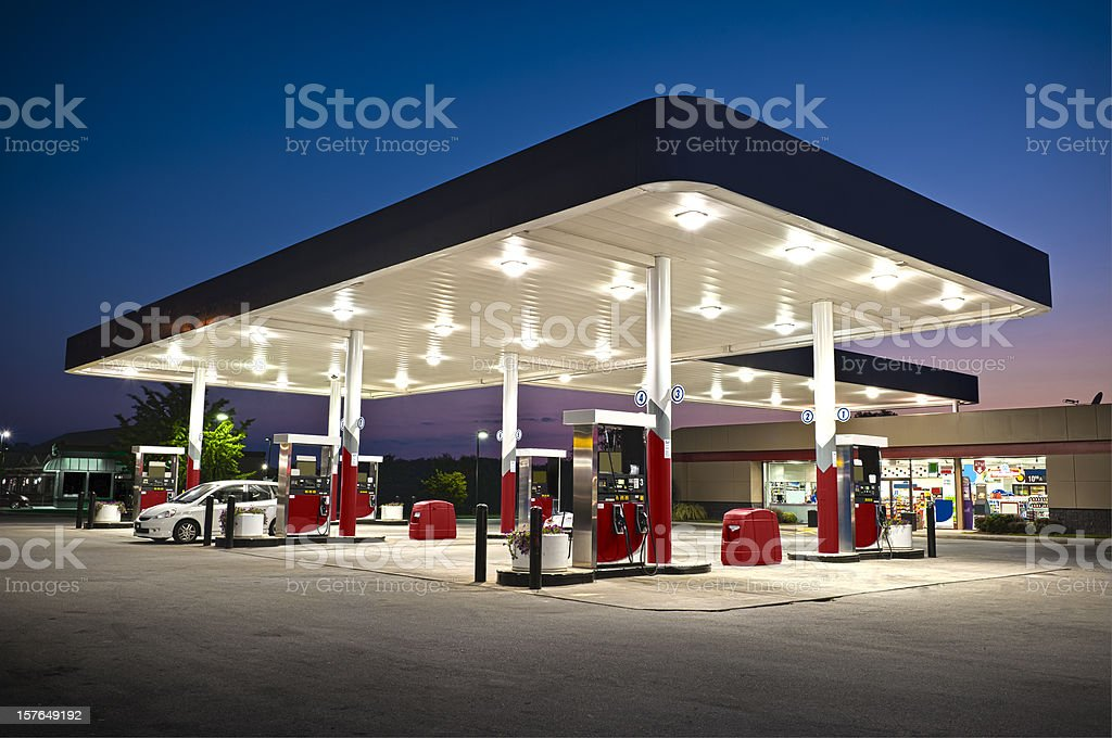 Attractive Gas Station Convenience Store royalty-free stock photo