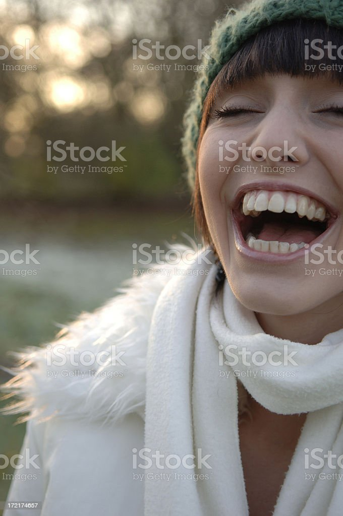 attractive girl in winter royalty-free stock photo
