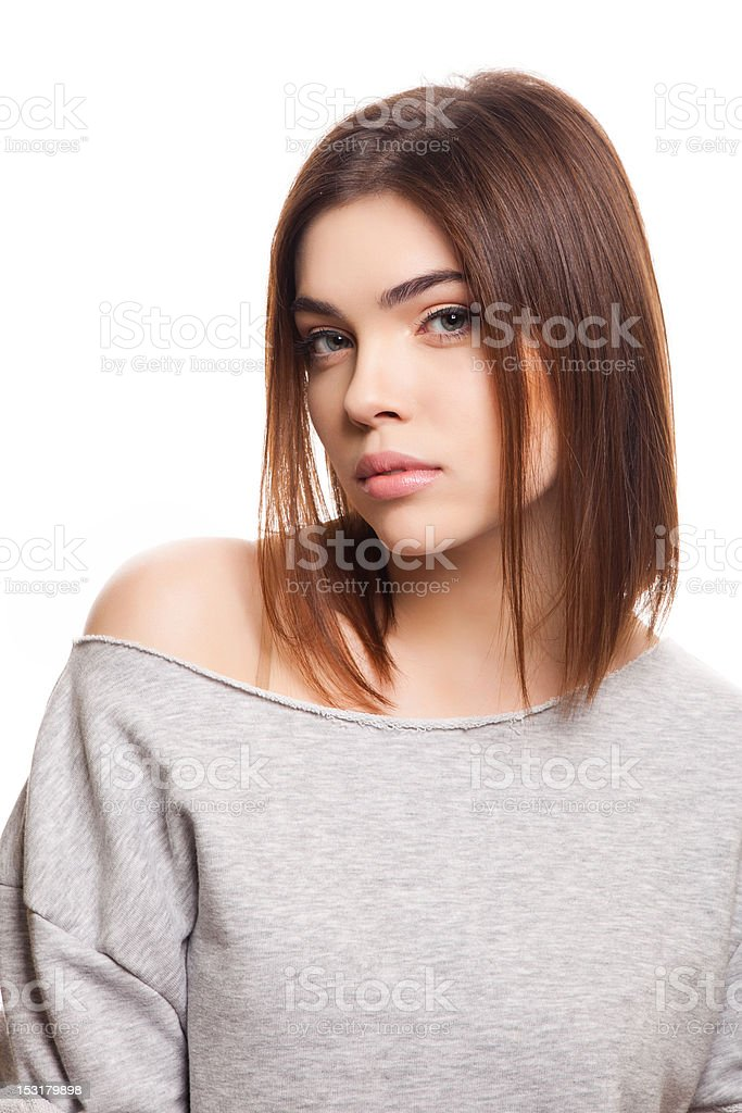 attractive girl stock photo