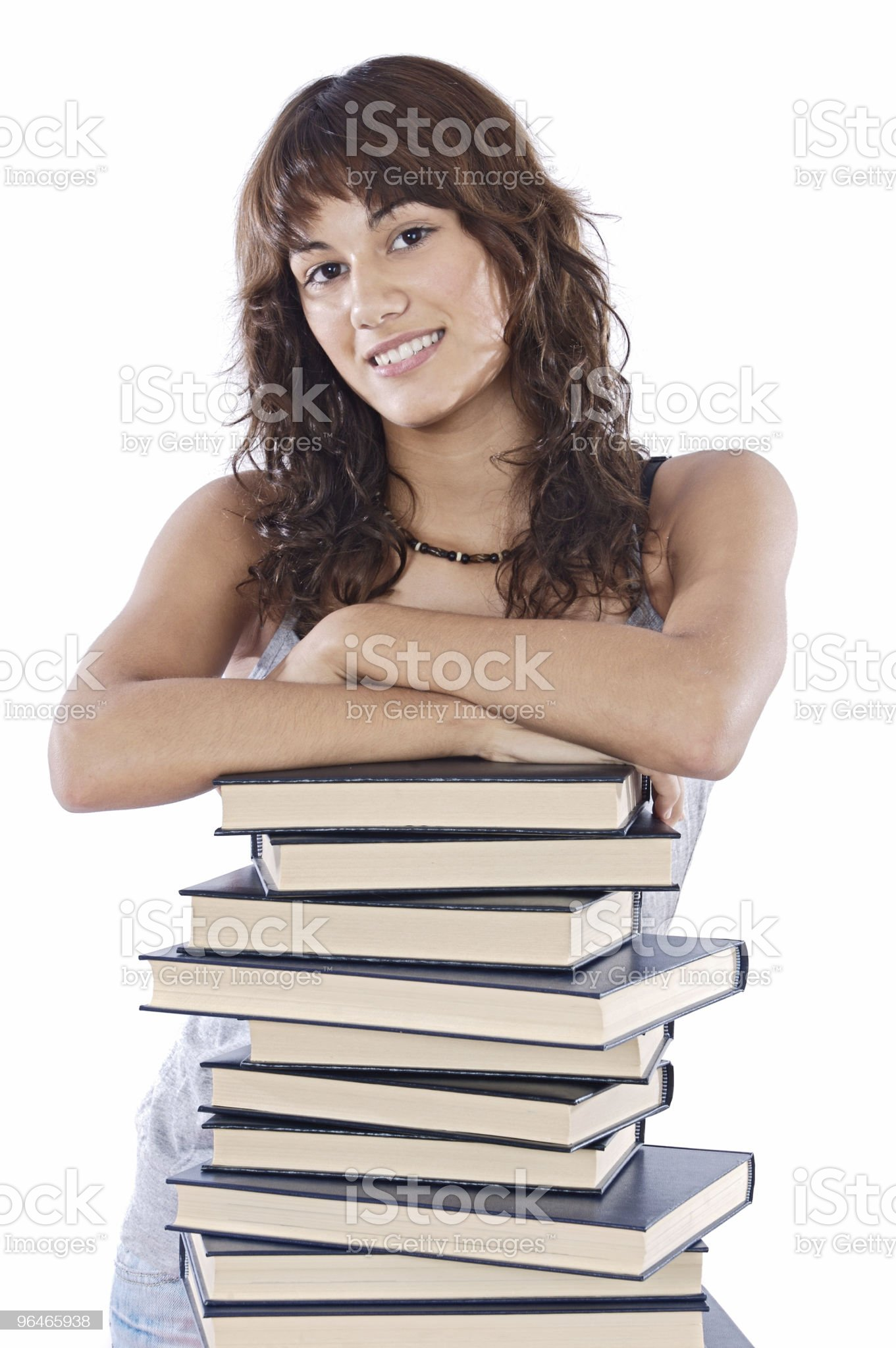 attractive girl student royalty-free stock photo