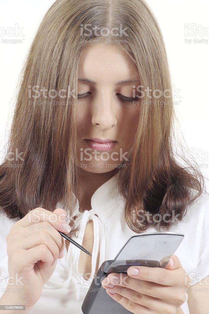 Atrakcyjna Dziewczyna z monitora zbiór zdjęć royalty-free