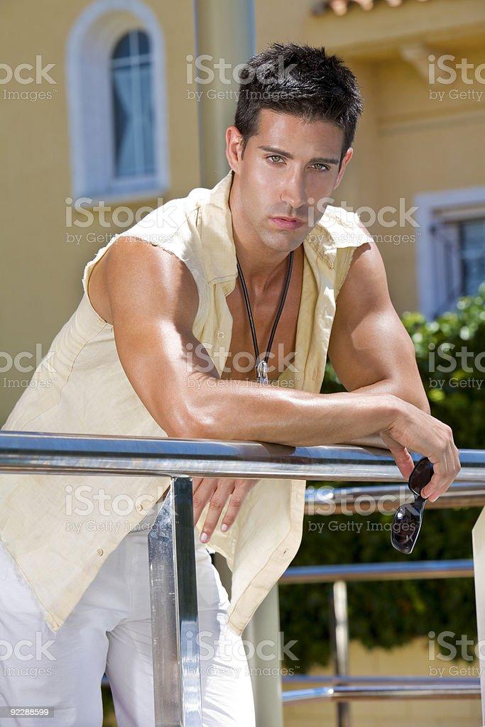 Attractive guy stock photo