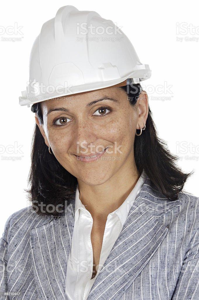 attractive happy architect royalty-free stock photo