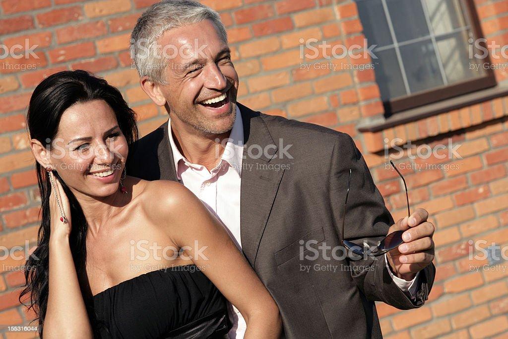 Attractive happy couple royalty-free stock photo