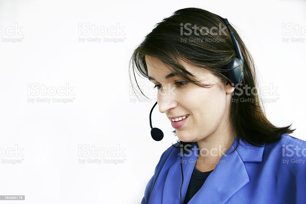 Attractive Headset Business Woman royalty-free stock photo