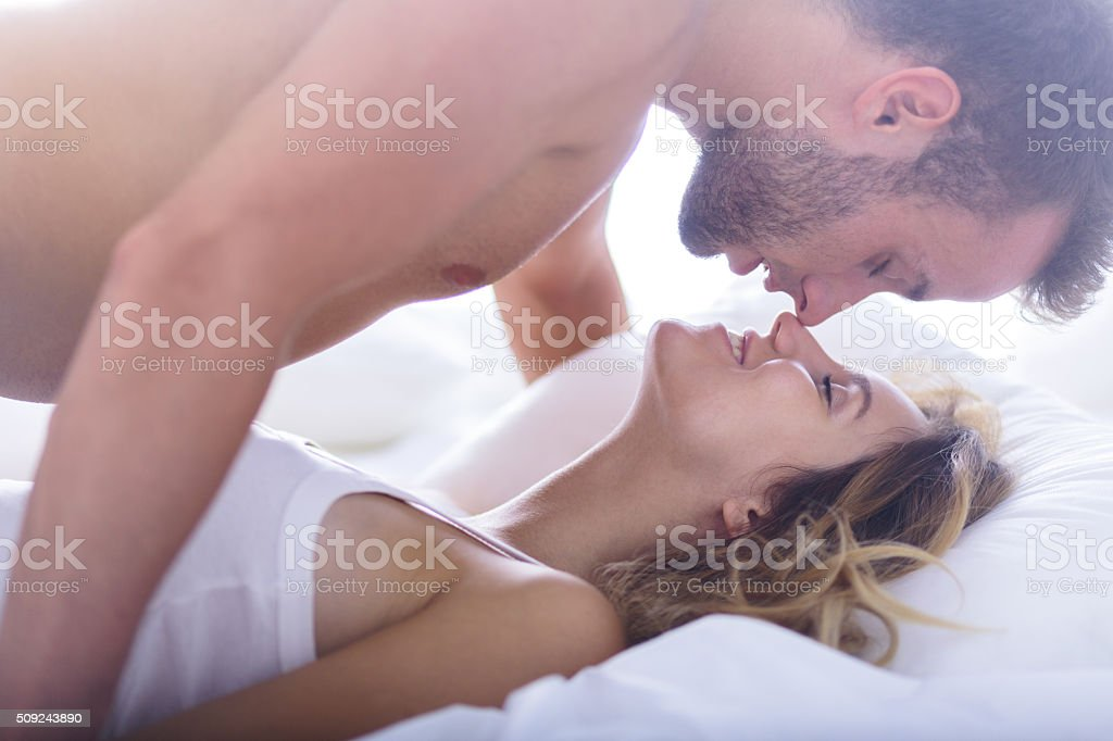 Attractive heartbreaker and his lover stock photo