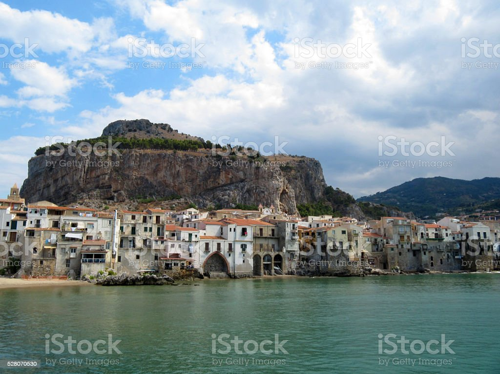 Attractive Historic Town Cefalu - Sicily, Italy stock photo
