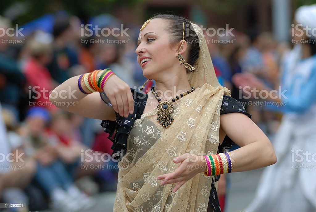Attractive India Dancer stock photo