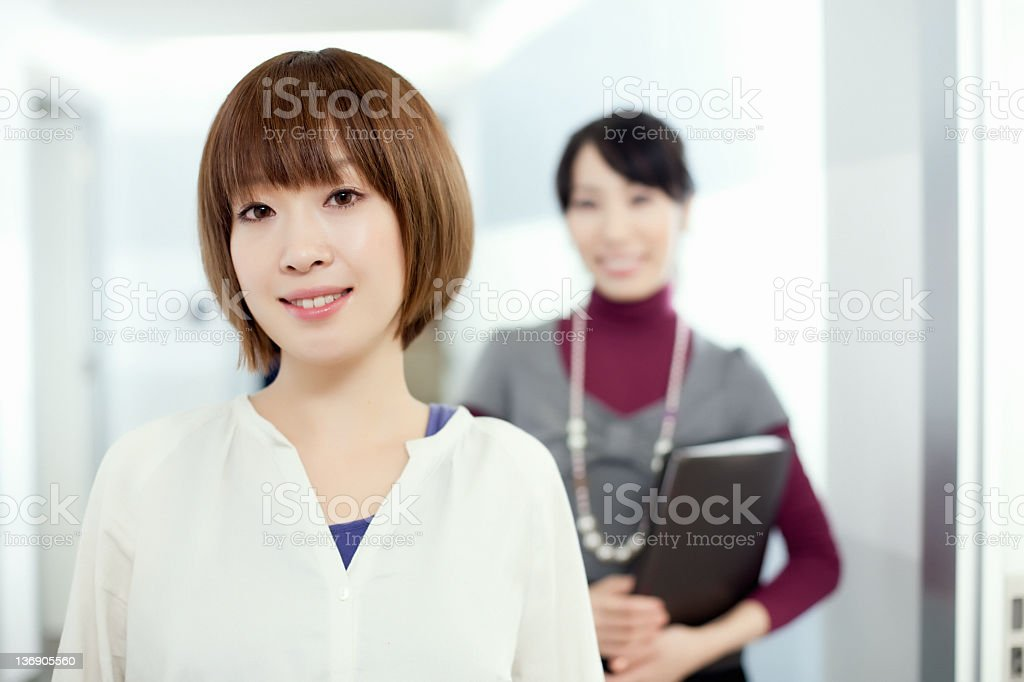Attractive Japanese office team royalty-free stock photo