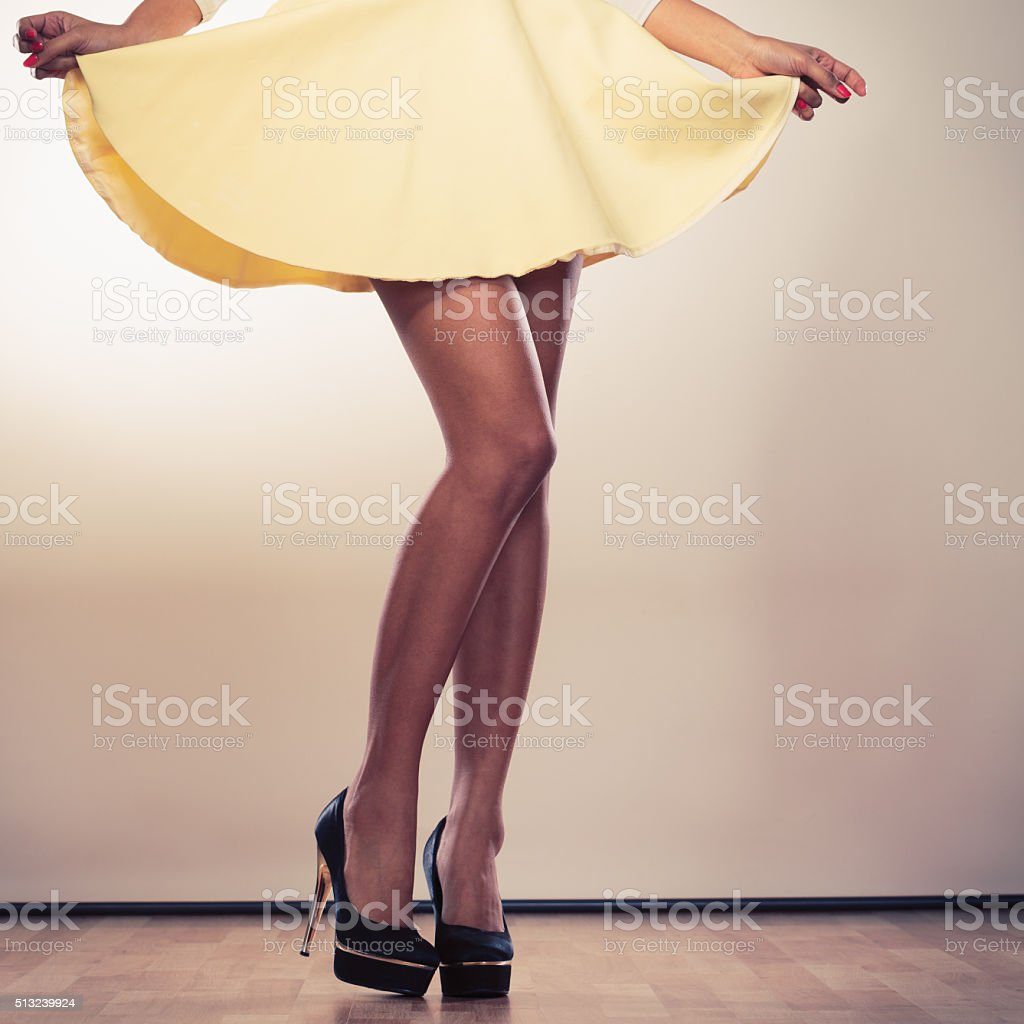 Attractive legs of woman stock photo