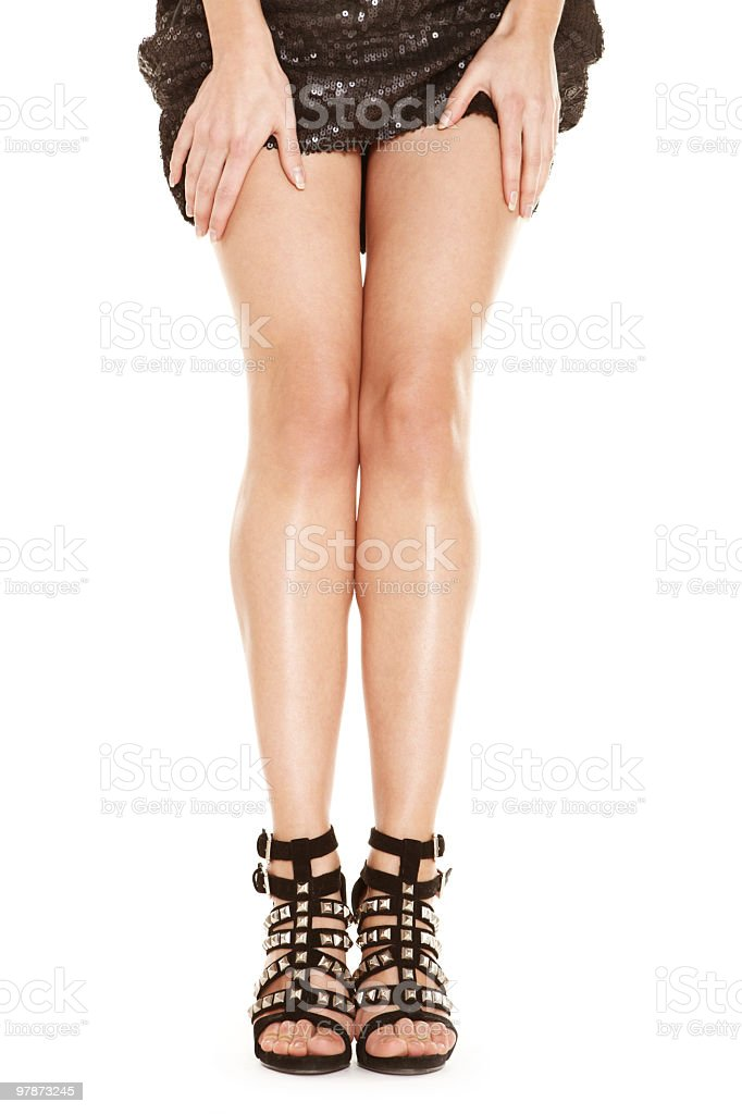 Attractive legs royalty-free stock photo