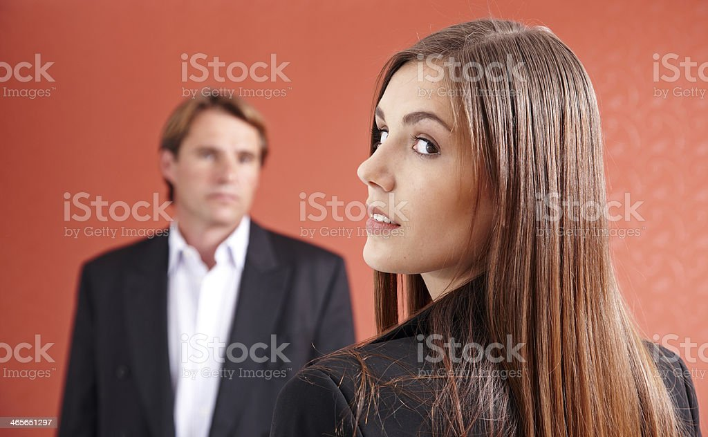 Attractive long haired businesswoman royalty-free stock photo