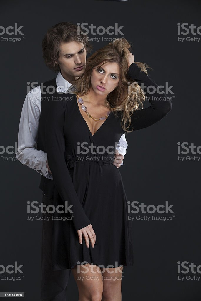 attractive lovers royalty-free stock photo