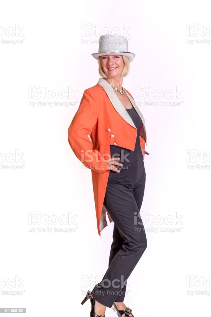 Attractive magician assistant stock photo
