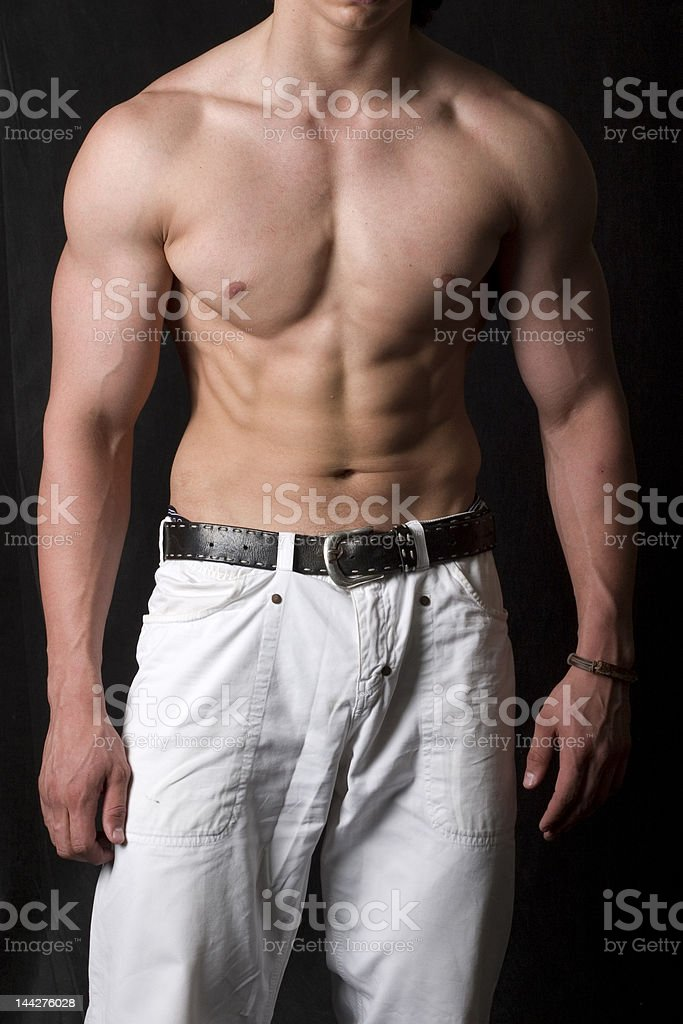 attractive male body royalty-free stock photo