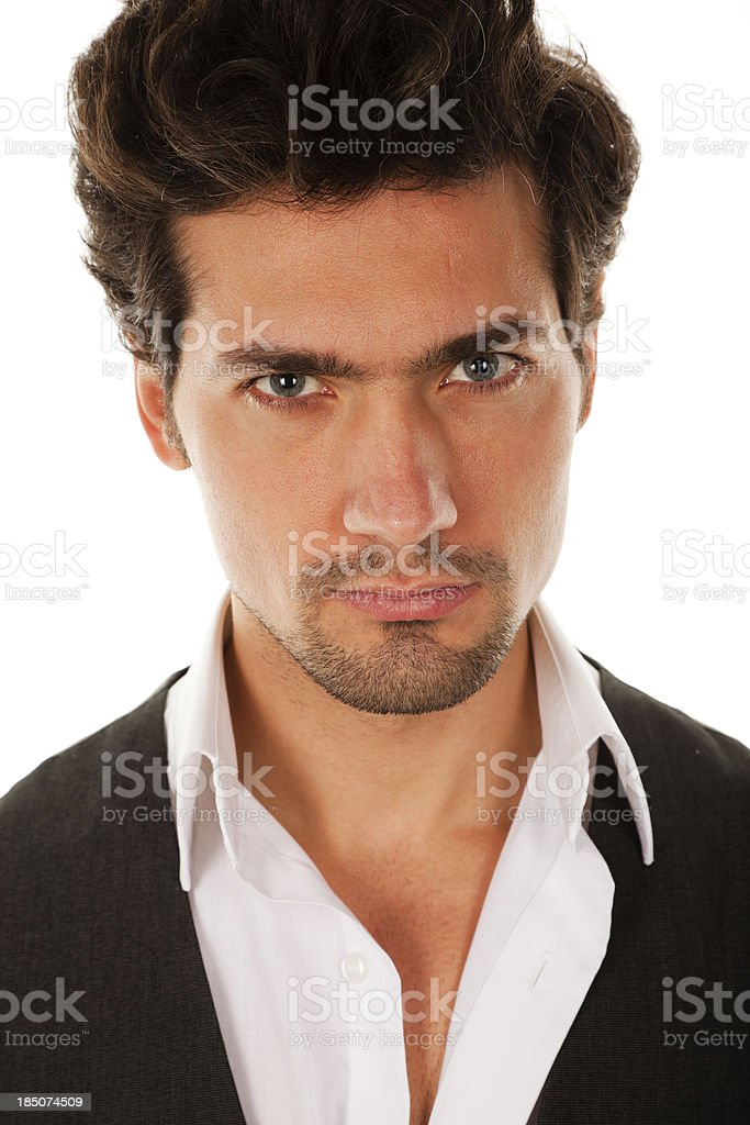 Attractive male model royalty-free stock photo