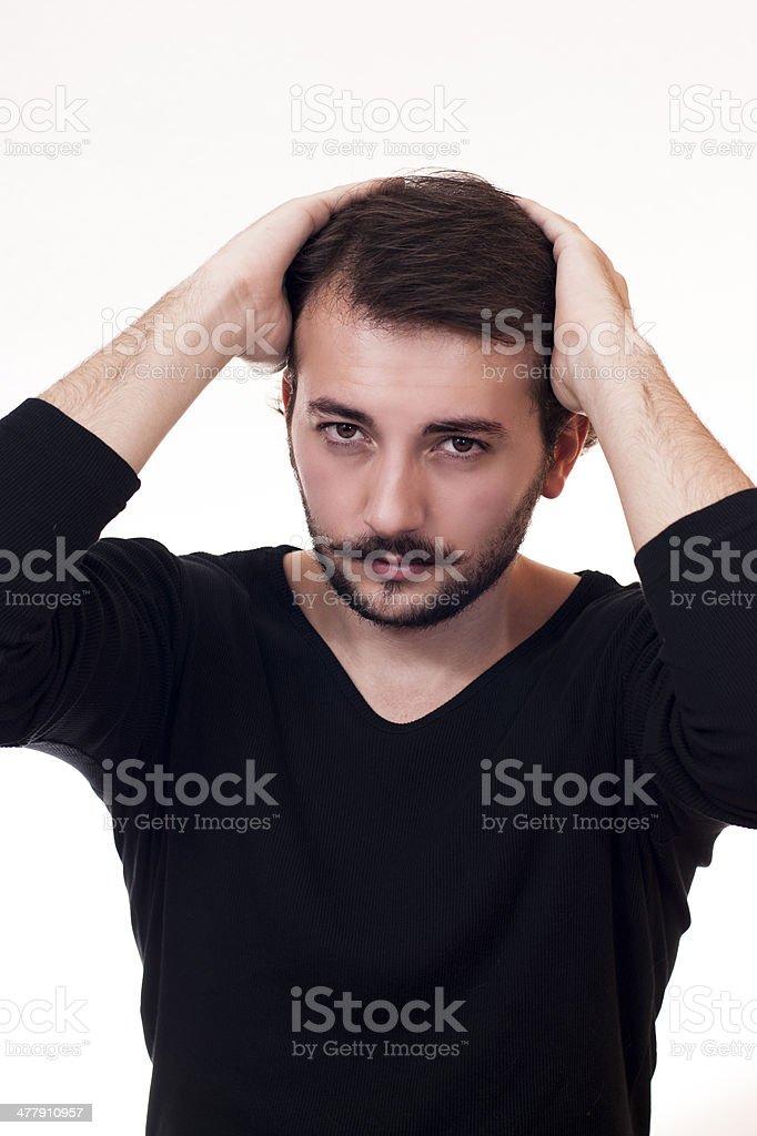 attractive male stock photo