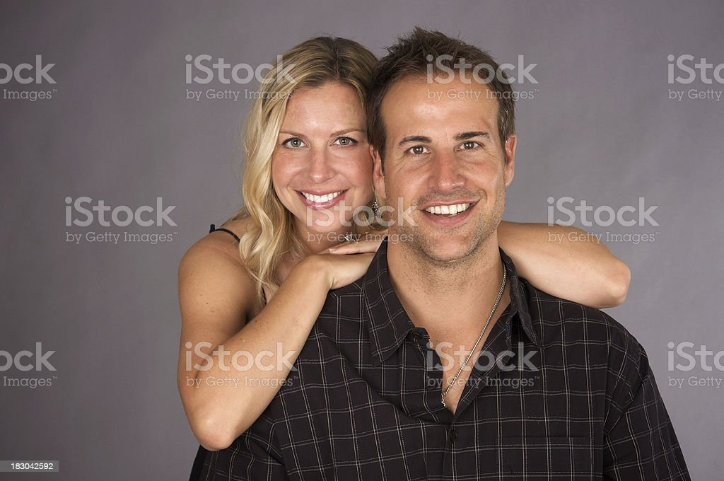 Attractive Married Couple Studio Portrait royalty-free stock photo