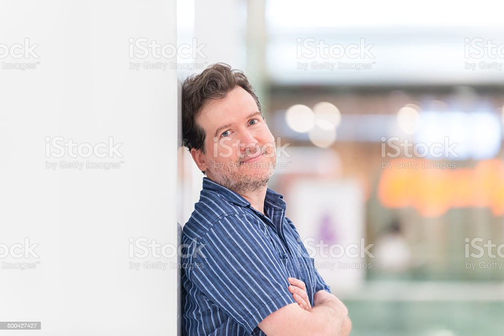 Attractive, Mature Man in Shopping Mall royalty-free stock photo