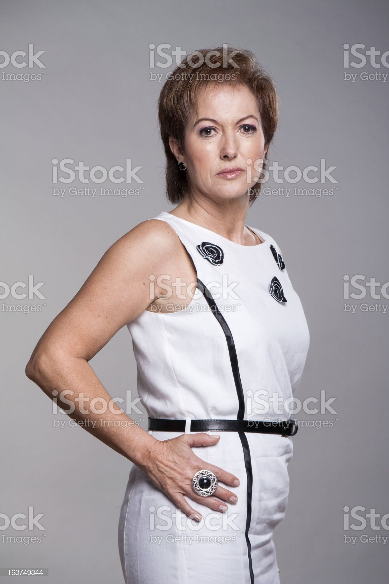 Attractive mature woman. royalty-free stock photo