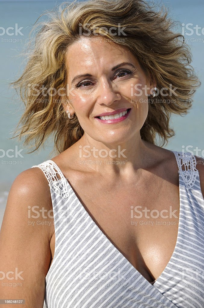 Attractive Middle Age Woman in Sundress royalty-free stock photo