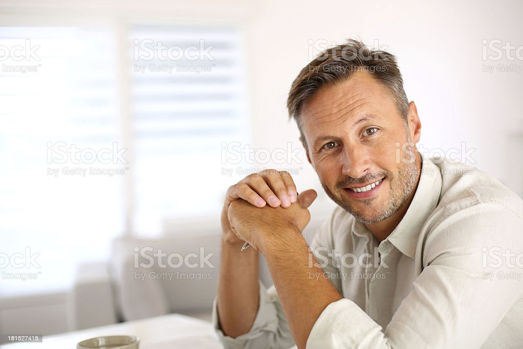 Attractive middle-aged man royalty-free stock photo