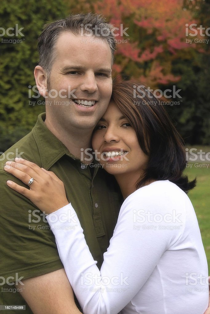 Attractive Mixed Race Couple Portrait royalty-free stock photo