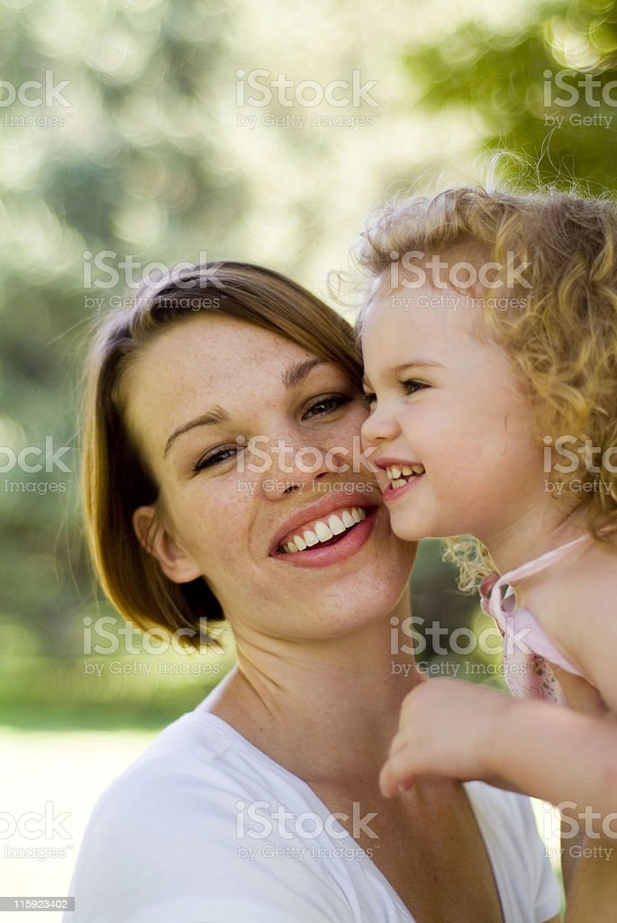 attractive mother and child royalty-free stock photo