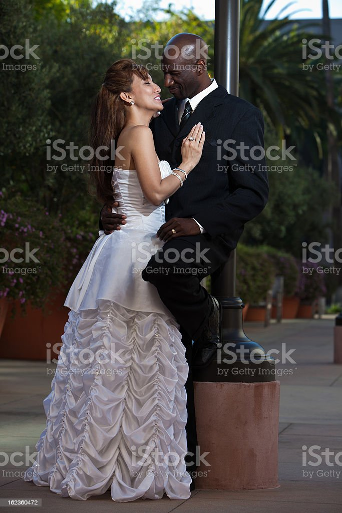 Attractive multiracial marriage royalty-free stock photo