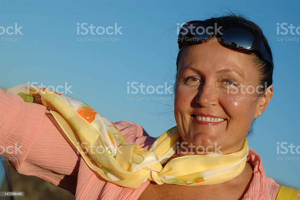 Attractive older woman royalty-free stock photo