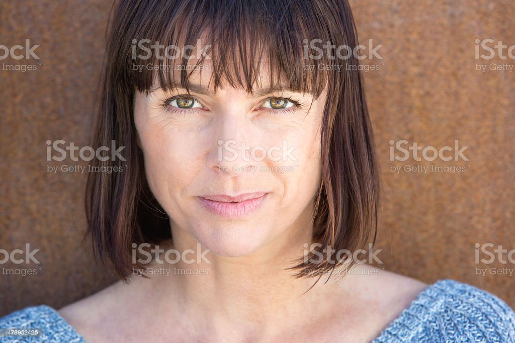 Attractive older woman stock photo
