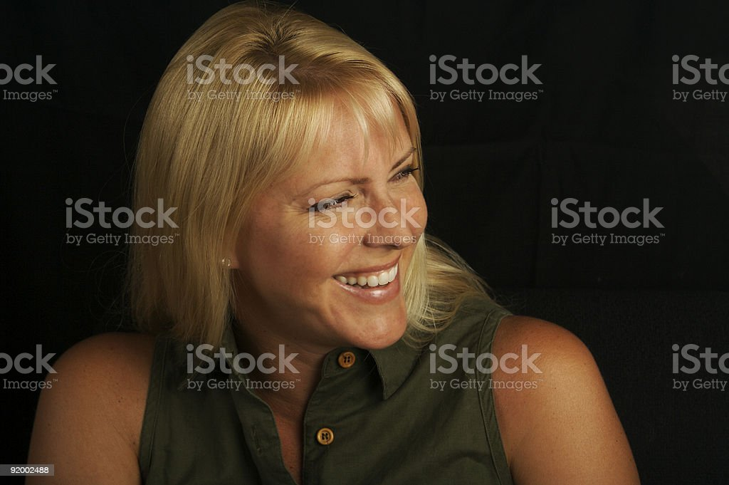 Attractive Portrait of Blond Haired, Brown Eyed Woman. royalty-free stock photo
