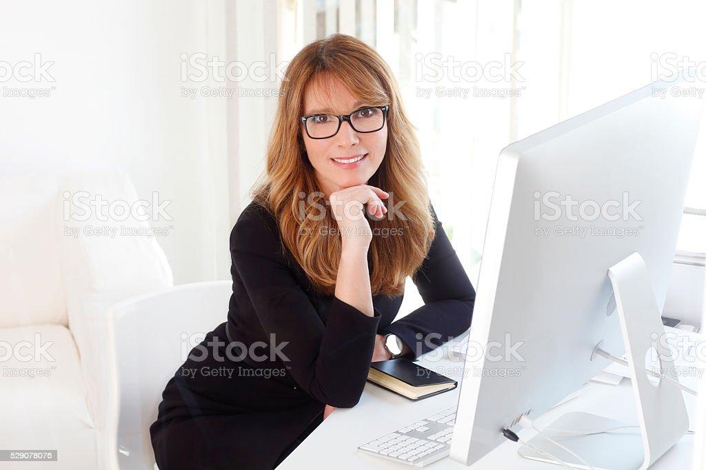 Attractive professional woman stock photo