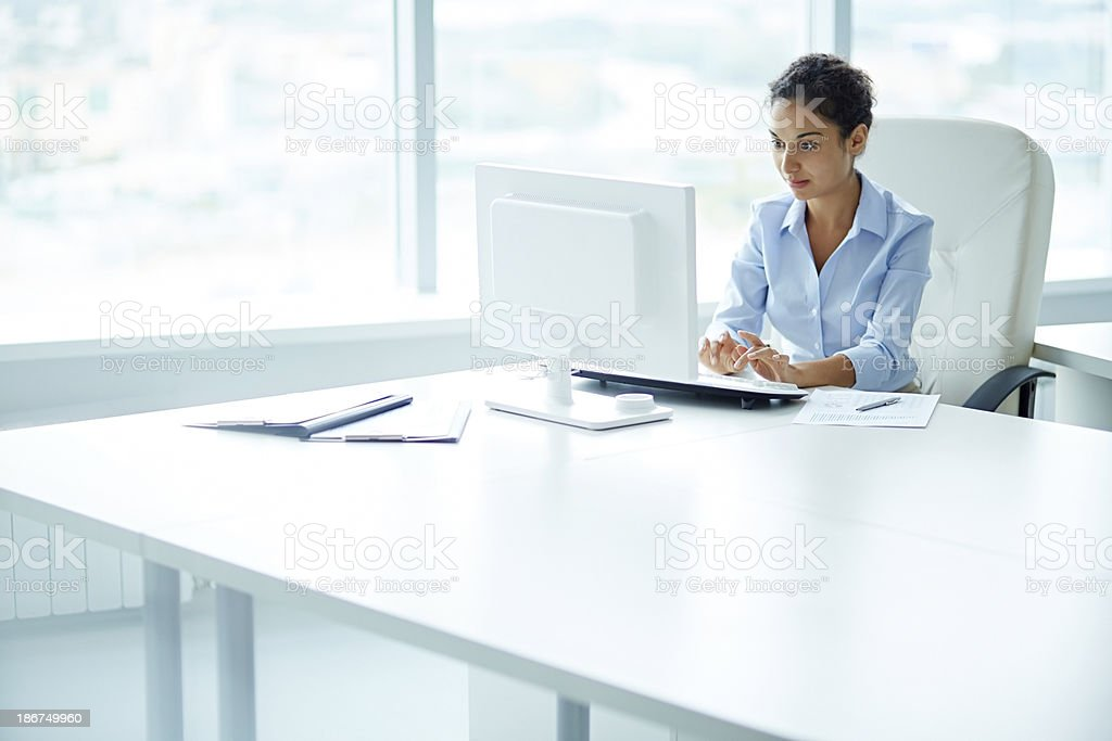 Attractive secretary stock photo