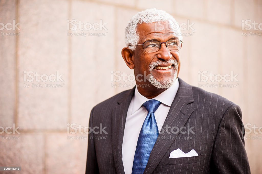 Attractive Senior African American Business Man stock photo