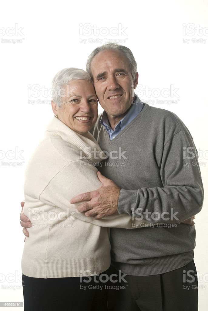 Attractive senior couple stock photo