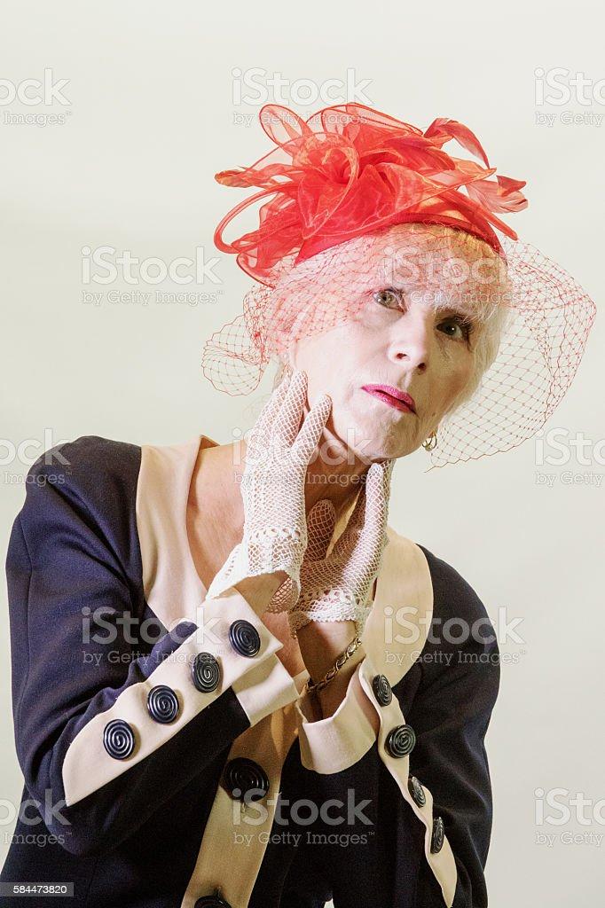 Attractive Senior Female stock photo